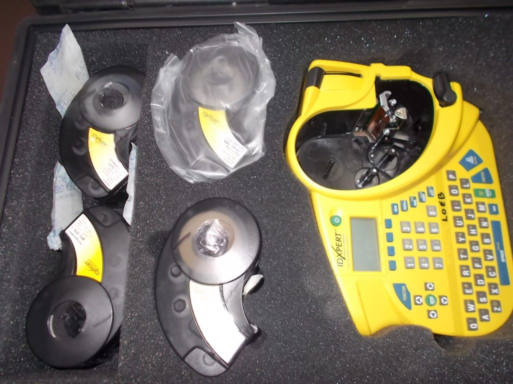 $249 Handheld Labeler with cartridges (not shown)