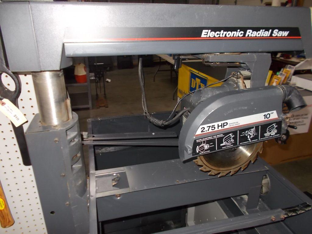 $49 Radial Arm Saw w/ cabinet
