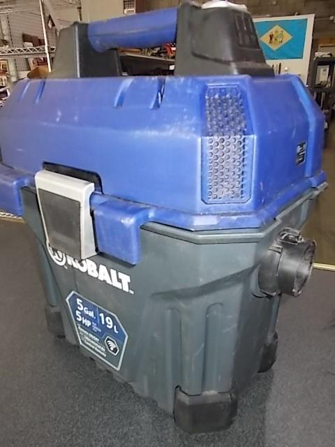 $29 KOBALT 5-gallon vacuum (no hoses) (5106)