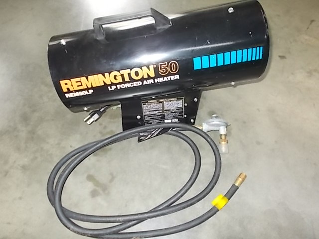 $75 REMINGTON REM50LP forced air heater LIKE NEW (5108)