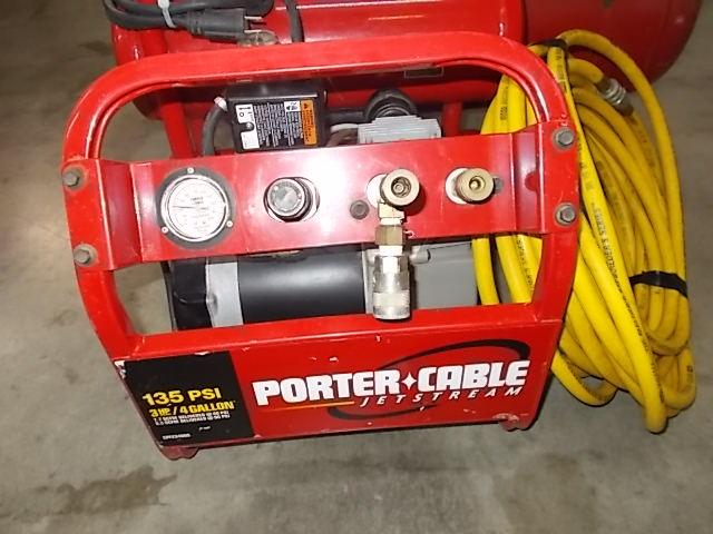 $125 PORTER CABLE 4-gallon air compressor (6403)