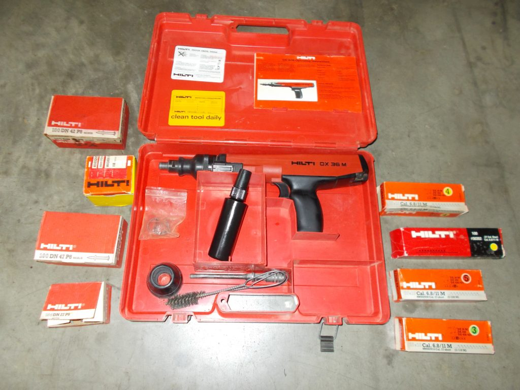 $169 HILTI Power nailer DX 36 M with nails and charges.  Nailer (alone) retails $249